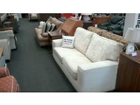 2 seat cream fabric sofa - British heart foundation