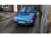 Ford escort xr3i cabriolet asure blue