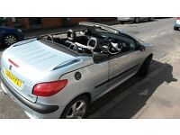 Peugeot 206cc 1.4L from 2003 with age related marks but everything is working as it should and MOTD!