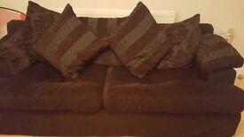Brown 4 seater stylish sofa