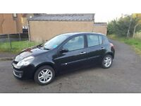Renault Clio dci 1.5L Diesel (2008), black, 55500 miles, good condition.