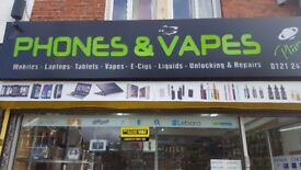 Business Opportunity (Phone & E-Cigarette shop for Sale)