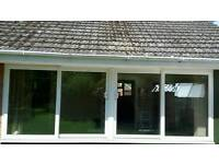 PVC large sliding windows