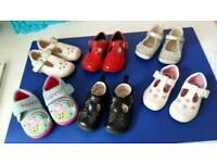 Girls Clark shoes 6 pairs.