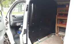 VW Transporter 63 black bulkhead. Used.