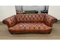 Stunning tetrad Oskar 2/3 seater leather chesterfield sofa £900