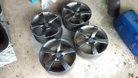 """Set of 4 x 17"""" TTRS Rotary style alloys"""