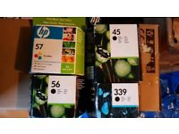 HP inkjet cartridges black and colour 56 57 45 339