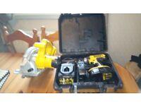 Used Dewalt cordless 18 v tools set, Drill set/Circular saw, GWO, see photos & details