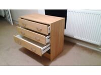 Chest of draws wooden drawers storage units bedside cupboard