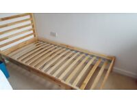 Single bed frame tarva model from ikea as good as new sparingly used