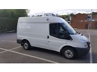 Refrigerated/ chilled/ fridge van with a driver, man with a fridge van Dorset (delivery service)