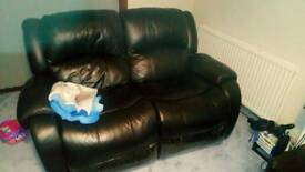 Black double recliner