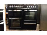Flavel aspen black gas and electric cooker