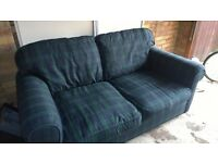 Sofa bed with solid metal frame. Excellent condition