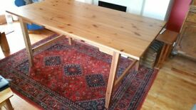 Solid pine Ikea dining table