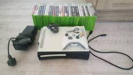 Xbox 360 20GB + Controller, cables and 31 games bundle