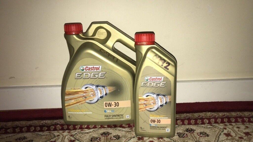 Castrol Edge Titanium FST Car Engine Oil 0W-30 Longlife Performance 5L