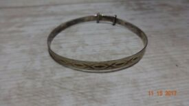 Vintage Hallmarked Silver Baby Bangle