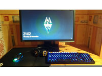 Gaming PC Gtx 970 i5 with 144hz monitor, Gaming keyboard, Mouse and Headset (with boxes) *mint*