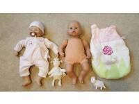 Baby Annabell bundle 2 dolls + accessories