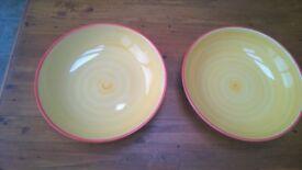 Serving / sharing bowls - Large yellow bowls