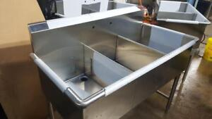 "51"" THREE COMPARTMENT SINK ( BRAND NEW ) 16 GUAGE"