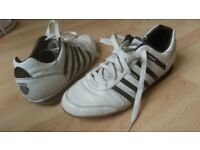 K-Swiss Trainers, white with brown, men's size 11 uk