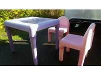Elc early learning centre children's table and chairs