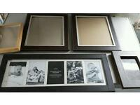Varìous picture frames leather effect brown