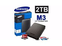 Samsung M3 2TB External Hard drive - Brand new - 3 year warranty