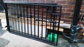 Solid steel gates