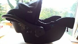 New JOIE JUVA CLASSIC BABY CAR SEAT BLACK for birth up to 15 months