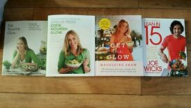 Healthy eating cookbooks x4. 3 are unread/ new.