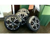 Set of 4 15inch alloy and low profile tyres multi fit