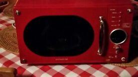 Red Daewoo Microwave 800W