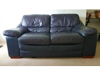 2 Seater Real Leather Sofa - Real Italian Leather (in Great Condition)