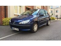 2005 PEUGEOT 206 1.1, M0T - MARCH 2019, 62K MILEAGE, FULL SERVICE HISTORY, LOVELY CAR