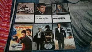 6 James Bond DVDs $20
