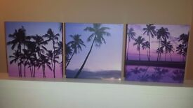 3 x canvas prints
