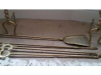 Vintage Brass Fireside Companion Set