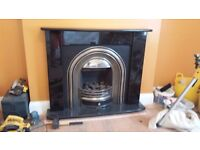 Solid Marble Fire Surround and Gas Fire