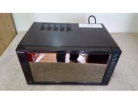 Swan 800-watt, 23-Litre Mirror Door Microwave - Black