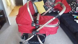 Mothercare Orb pushchair/carrycot *raincover not included*
