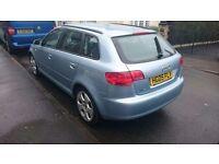Audi a3 sport ,5 door, mot till October, PSH, recently serviced, 4 brand new tyres, brand new egr