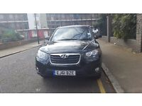 61 plate 2011 HYUNDAI SANTA FE BLACK automatic diesel 61 plate only 26000 mileage