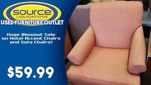 HUGE BLOWOUT Sale on Hotel Sofa/Accent Chairs!!