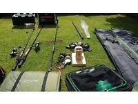 Selection of fresh water fishing gear