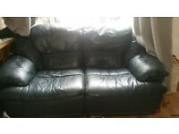 free 3 and 2 seater leather sofa