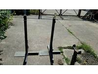 Squat stands and safety catchers